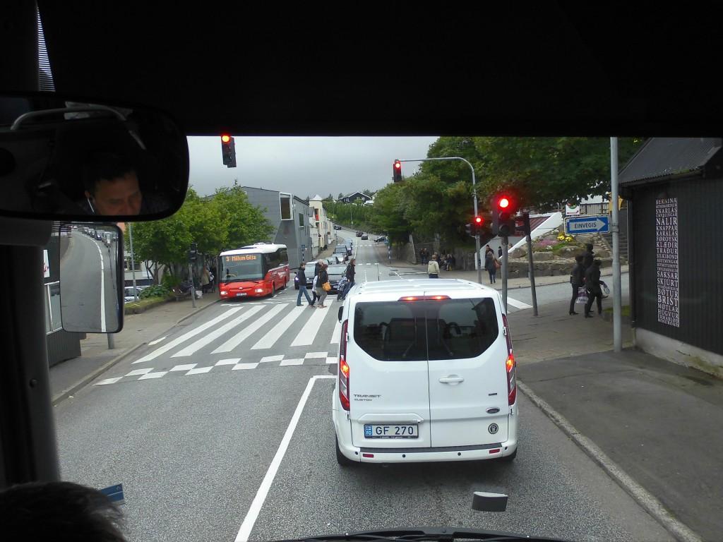 Rush hour in downtown Tórshavn ...