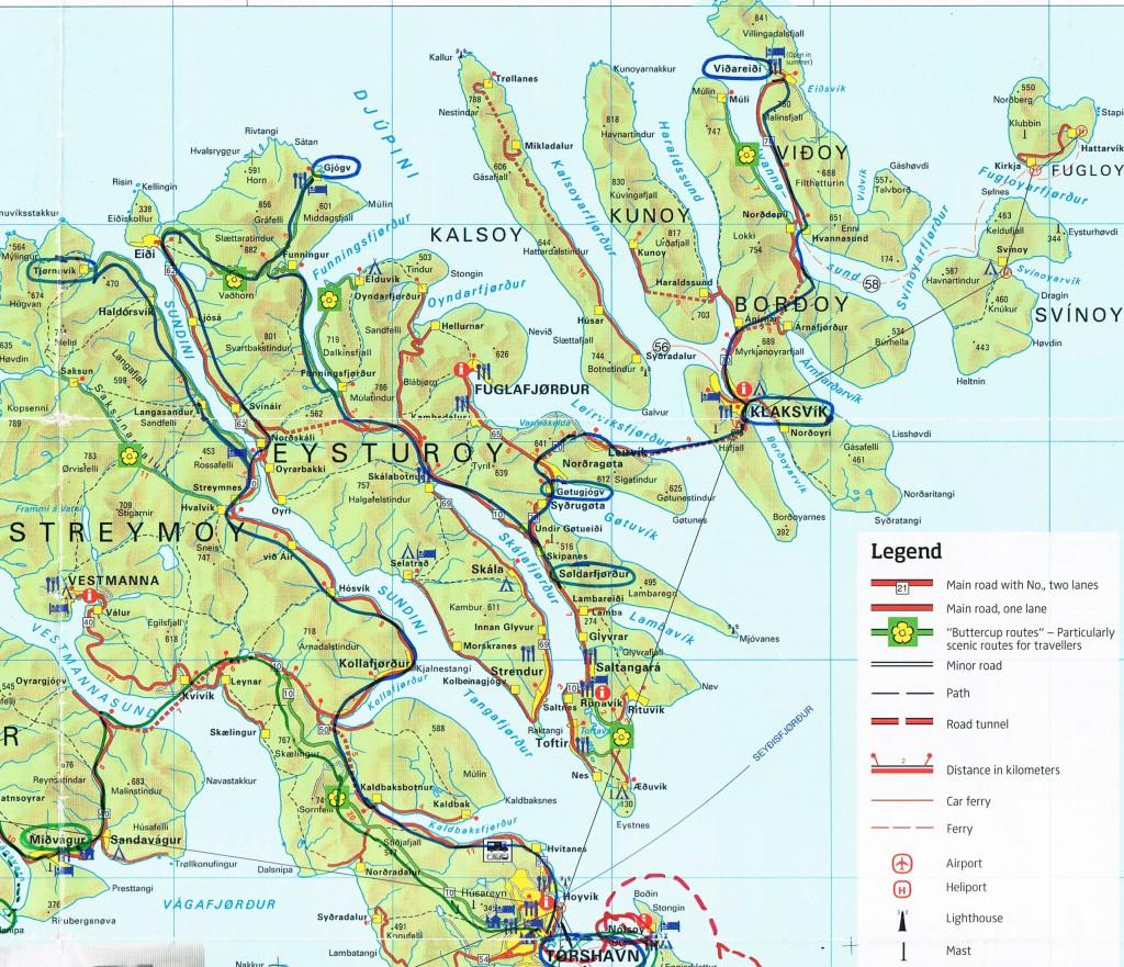 Färöer Karte (2)