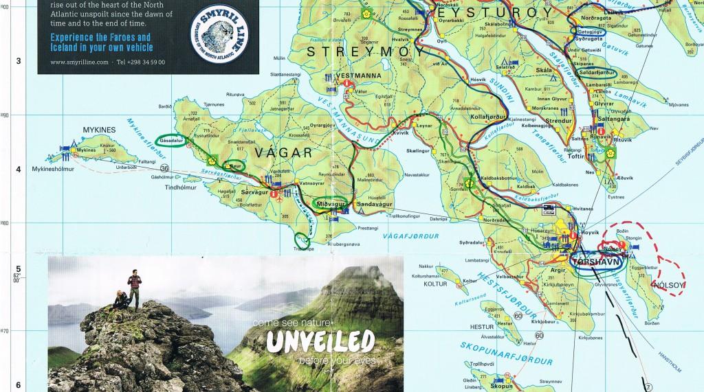 Die Route des dritten Tages ist mit GRÜN markiert.
